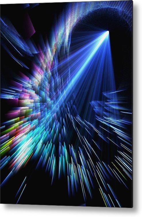 Gamma Ray Metal Print featuring the digital art Gamma Ray Burst 2 by Rhonda Martin