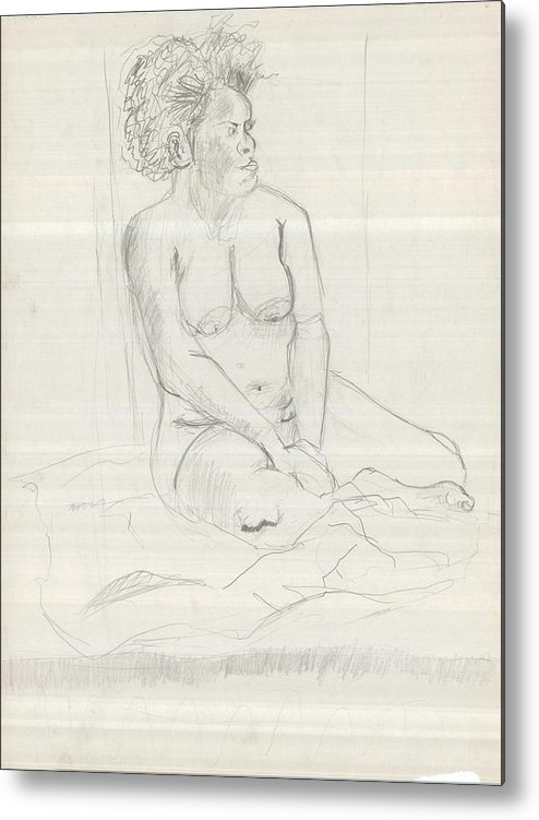 Metal Print featuring the drawing Life Drawing by Joseph Arico