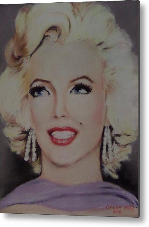 Marilyn Monroe Metal Print featuring the painting Marilyn Monroe by Galen Foor