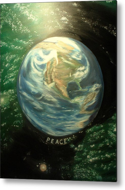 Peace Project Metal Print featuring the painting Peace by Kenneth LePoidevin