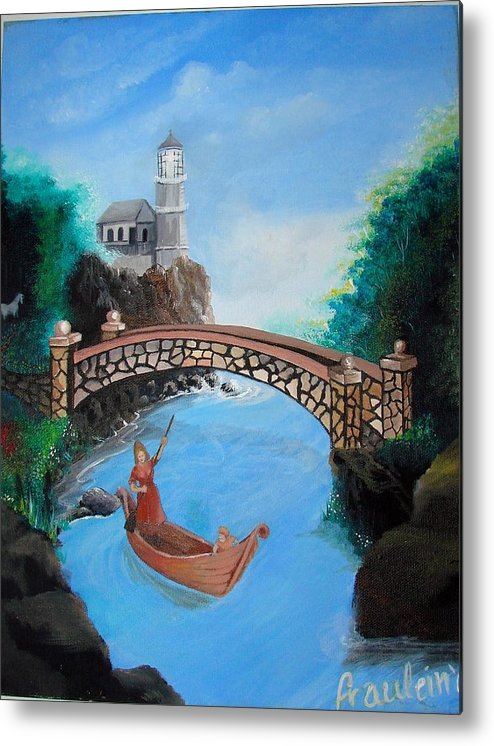 Figure Metal Print featuring the painting The Escape by Glory Fraulein Wolfe