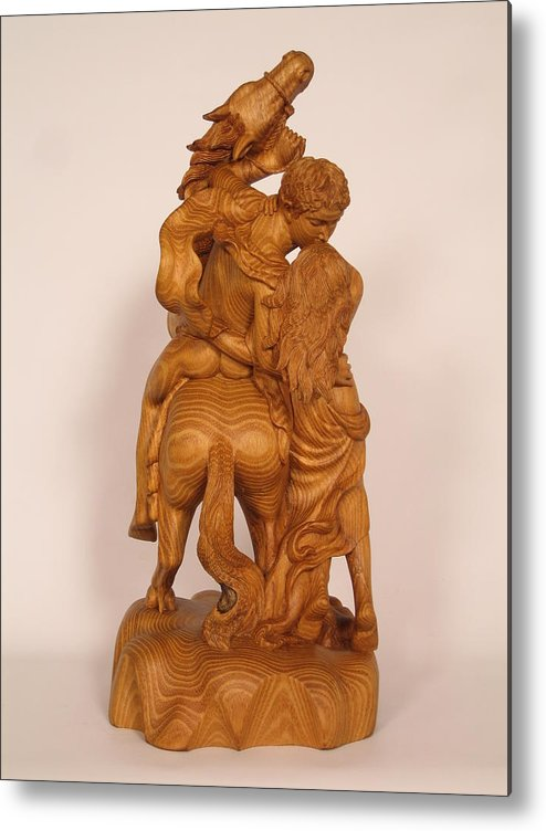 Sculpture Metal Print featuring the sculpture The Lovers by Thu Nguyen