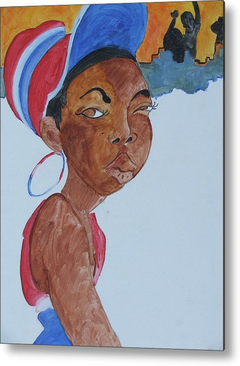 Acrylic Metal Print featuring the painting Untitled by Taylor Lacey
