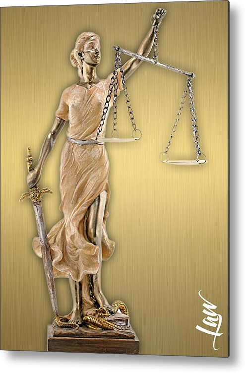 Law Metal Print featuring the mixed media Law Office Collection by Marvin Blaine