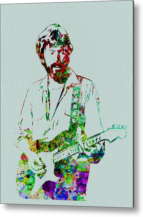 Metal Print featuring the painting Eric Clapton by Naxart Studio