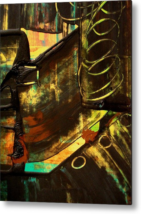 Mixed Media Print Metal Print featuring the painting Untitled by Teo Santa