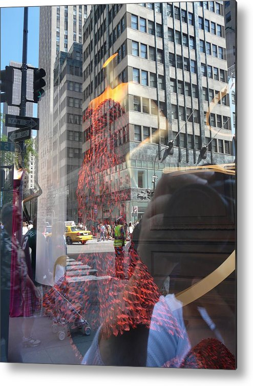 New York Metal Print featuring the photograph 5th Avenue by Valerie Ornstein