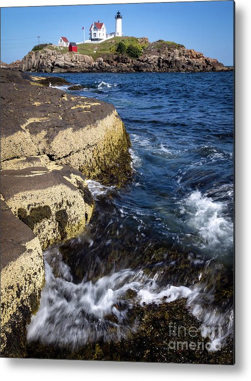 Cape Nedick Metal Print featuring the photograph A Summer's Day At Nubble Light, York, Maine -67969 by John Bald