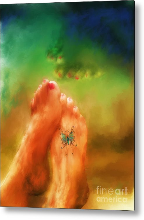 Summer Metal Print featuring the mixed media Aah Summer by Marilyn Sholin