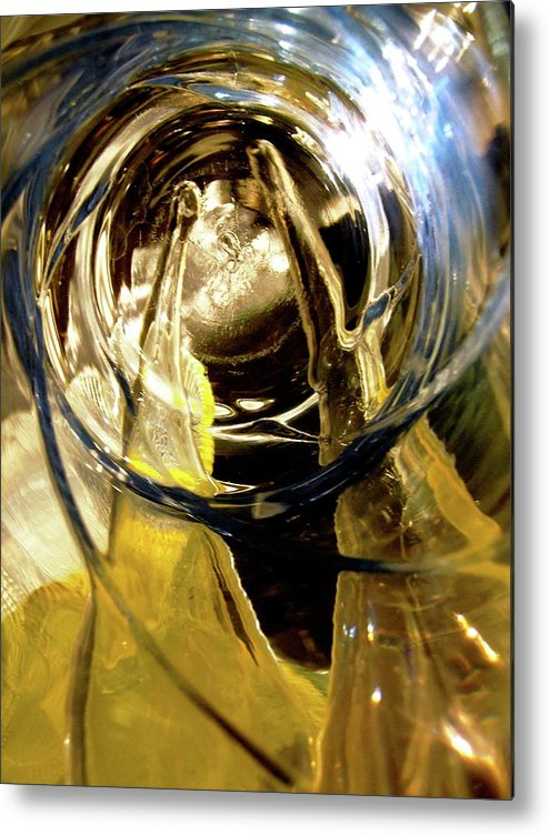 Abstract Metal Print featuring the photograph Abstract 1076 by Stephanie Moore