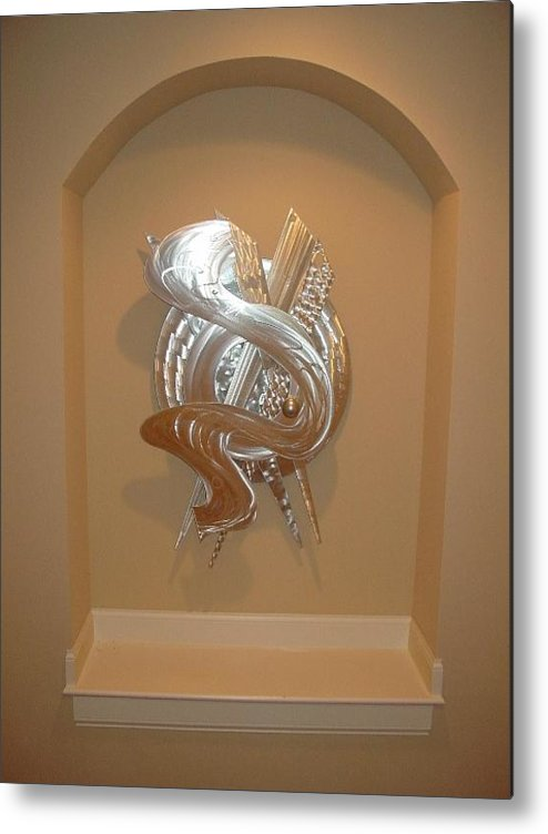 Aluminum Metal Print featuring the sculpture Abstract Desire by Mac Worthington