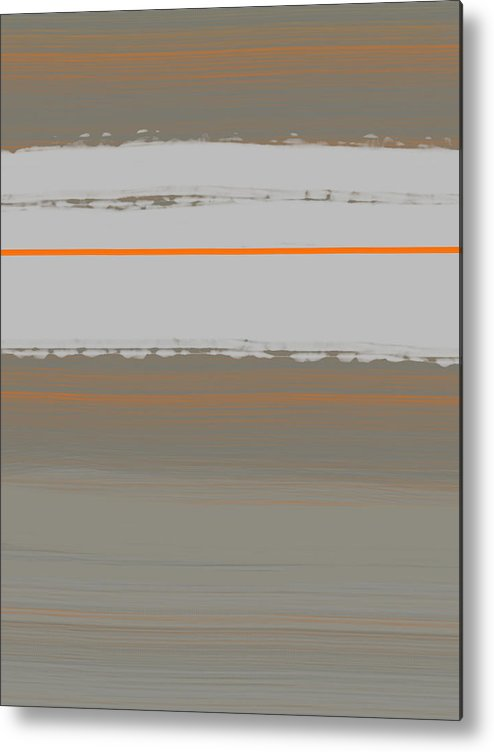 Abstract Metal Print featuring the painting Abstract Orange 4 by Naxart Studio