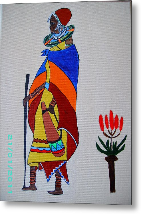 Acrylic Metal Print featuring the painting Africa 2 by Dion Halliday