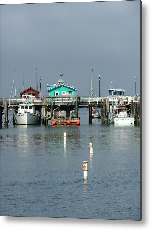 Sea Scapes Metal Print featuring the photograph Again In Monterey by Donna Thomas