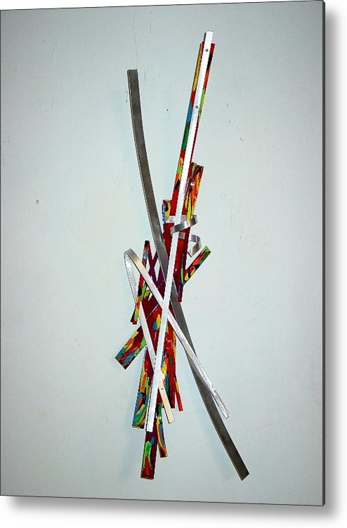 Aluminum Metal Print featuring the sculpture Alive by Mac Worthington