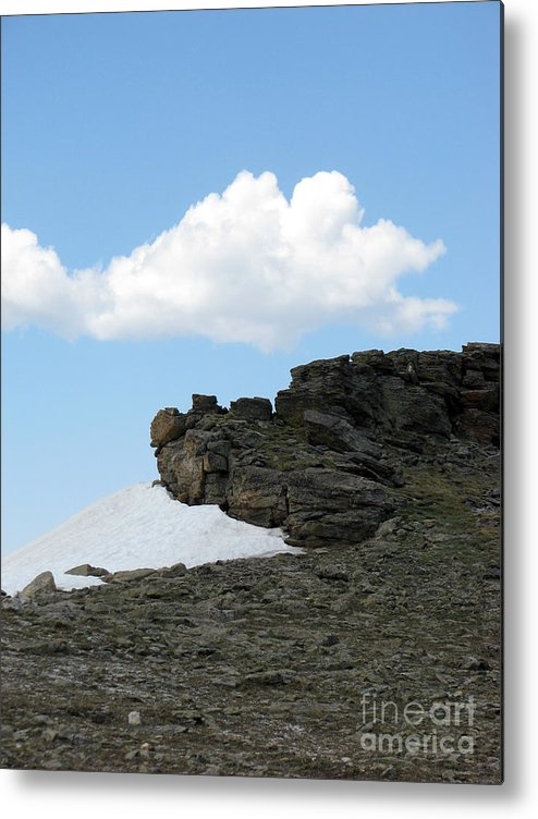 Rocky Mountains Metal Print featuring the photograph Alpine Tundra - Up In The Clouds by Amanda Barcon