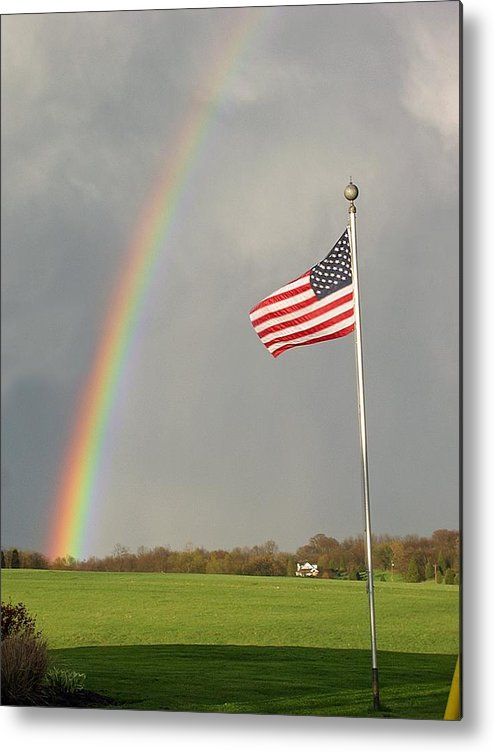 Patriotic Metal Print featuring the photograph America by Martie DAndrea