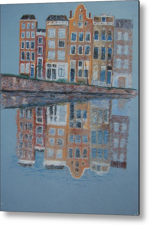 Pastel Metal Print featuring the painting Amsterdam by Marina Garrison