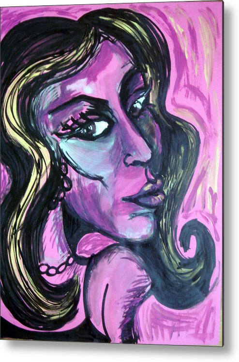 Amy Winehouse Metal Print featuring the painting Amy Amy Amy by Jenni Walford