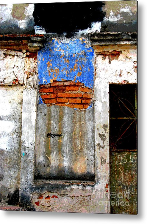 Darian Day Metal Print featuring the photograph Ancient Wall 5 By Darian Day by Mexicolors Art Photography