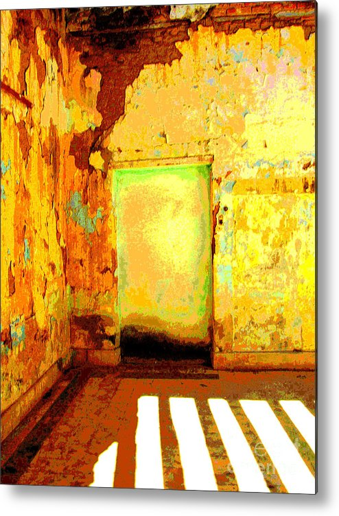 Michael Fitzpatrick Metal Print featuring the photograph Ancient Wall 8 By Michael Fitzpatrick by Mexicolors Art Photography