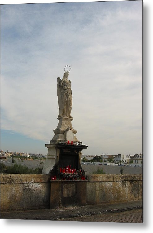 Angel Metal Print featuring the photograph Angel Raphael In Cordoba Spain by Halle Treanor