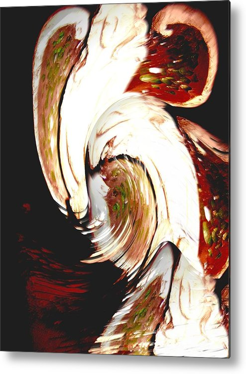 Abstract Of A Angel Metal Print featuring the photograph Angels Gather Here by Judy Arline Puckett