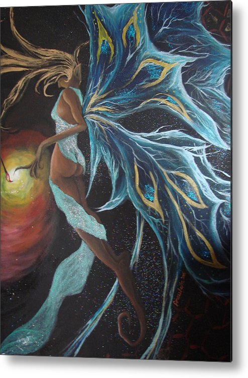 Figure Metal Print featuring the painting Art Is Magic by Glory Fraulein Wolfe