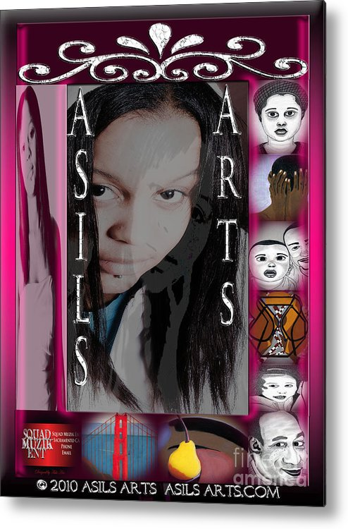 Graphic Art & Digital Designs. Metal Print featuring the digital art Asils Arts 2010 by Asils Arts