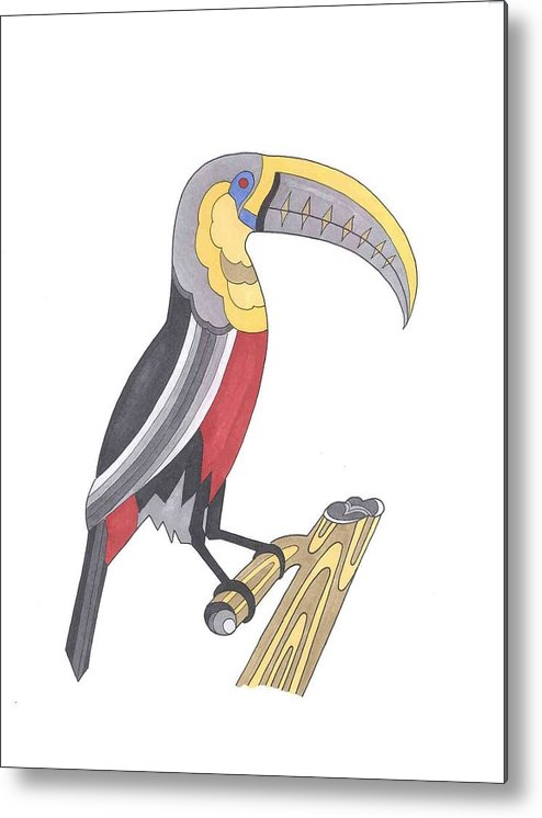 Toucan Metal Print featuring the mixed media Assignment 13 by David Seter