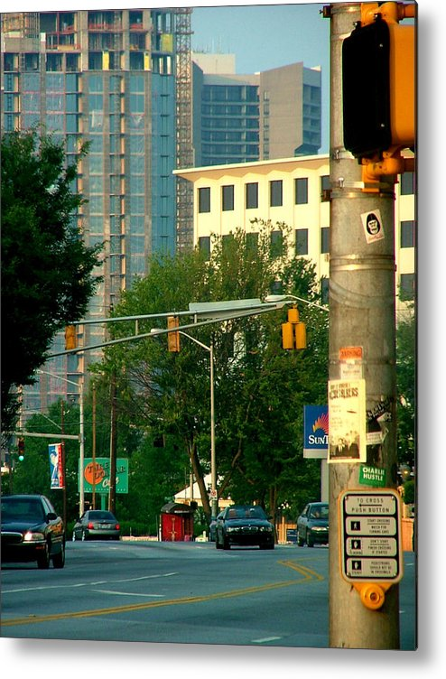 Streetscape Metal Print featuring the photograph Atlanta Street Scape by Donna Thomas