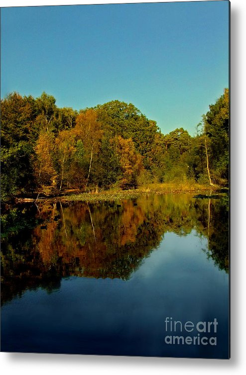 Reflection Metal Print featuring the photograph Autumnal Reflecion by Jack Hood