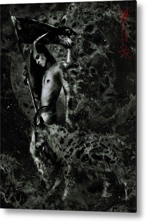 Azazel Metal Print featuring the digital art Azazel by Cambion Art