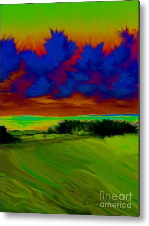 Landscape Metal Print featuring the painting Backyard by Everett White