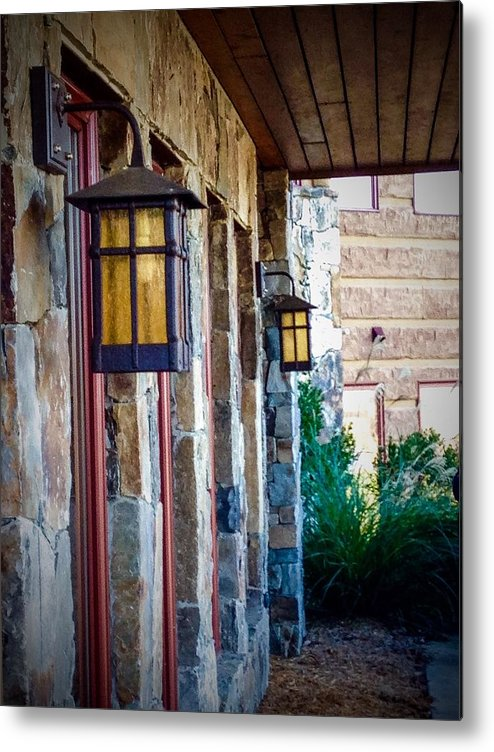 Light Metal Print featuring the photograph Backyard Lanterns by Randy Brownlee