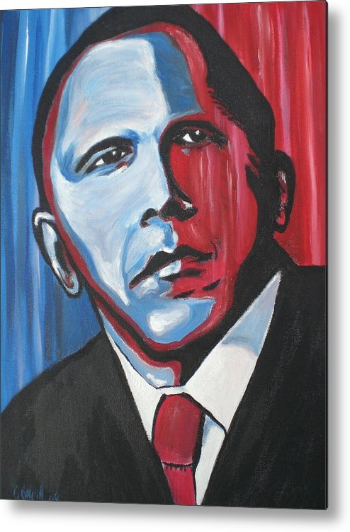 Obama Metal Print featuring the painting Barack by Colin O neill
