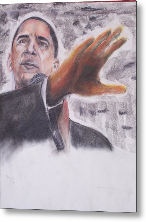 Bararck Metal Print featuring the painting Barack Obama by Darryl Hines
