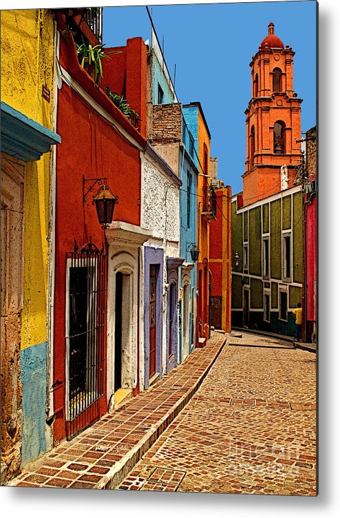 Old Mexico Metal Print featuring the photograph Bell Tower View by Mexicolors Art Photography
