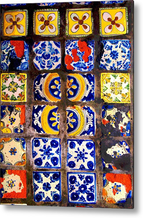 Darian Day Metal Print featuring the photograph Belmar Tiles By Darian Day by Mexicolors Art Photography