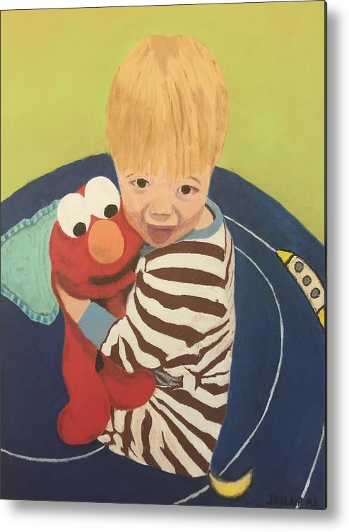 Grandchild Metal Print featuring the painting Best Friends by Jonathan Blair