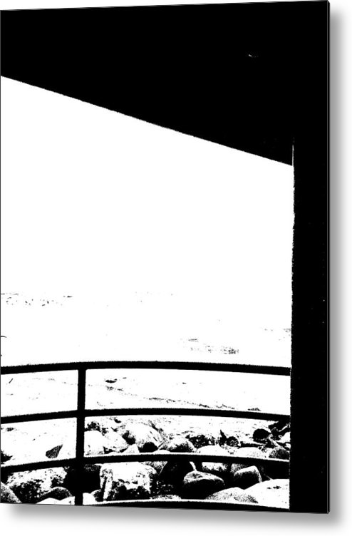Abstract Metal Print featuring the photograph Black And White by John Bichler