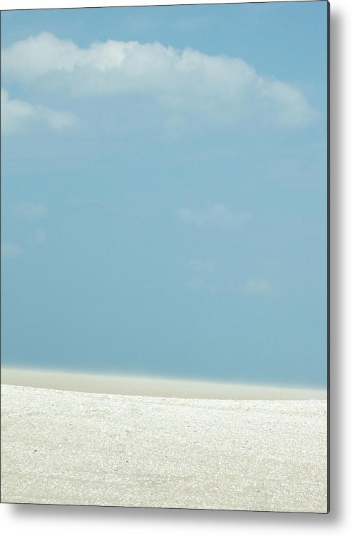 Metal Print featuring the photograph Blue And Beige by Iris Posner