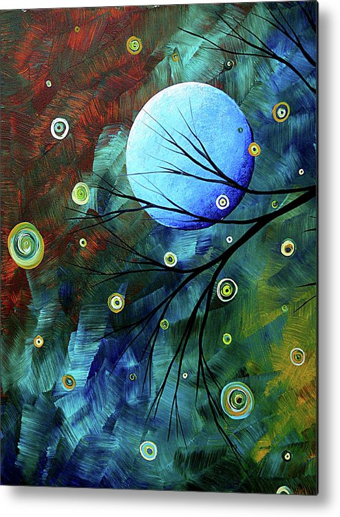 Art Metal Print featuring the painting Blue Sapphire 1 By Madart by Megan Duncanson