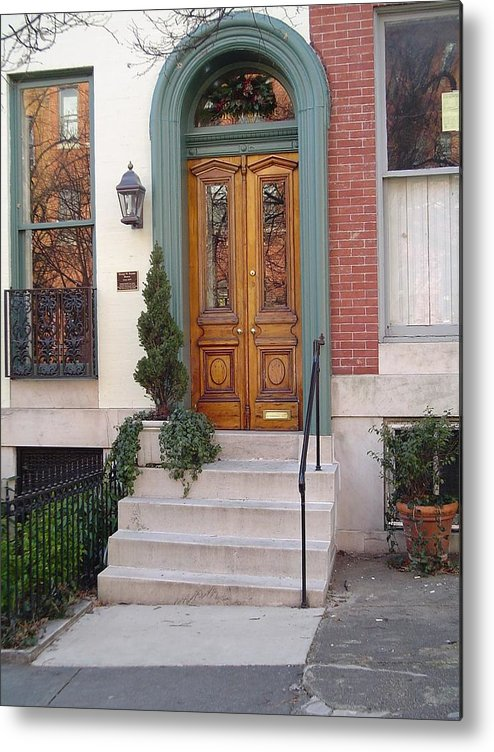 Baltimore Metal Print featuring the photograph Bolton Hill Arched Door by John Schuller