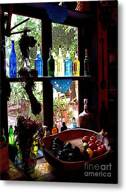 Mexico Metal Print featuring the photograph Bottles And Shadows by Mexicolors Art Photography