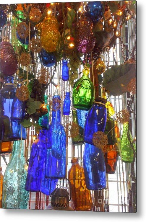Colored Bottles Metal Print featuring the photograph Bottles by Deborah Selib-Haig DMacq