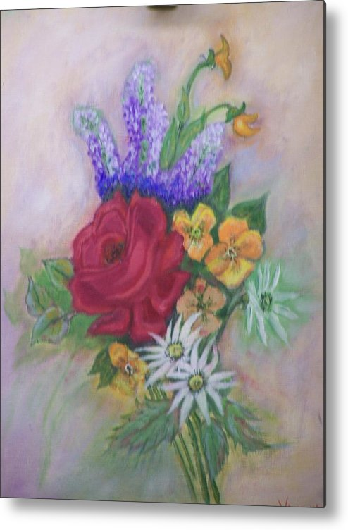 Still Life Metal Print featuring the painting Bouquet by Charles Vaughn