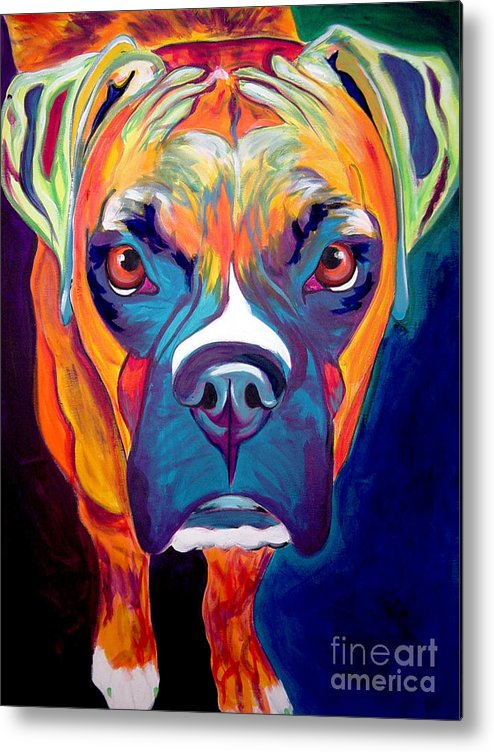 Boxer Metal Print featuring the painting Boxer - Harley by Alicia VanNoy Call