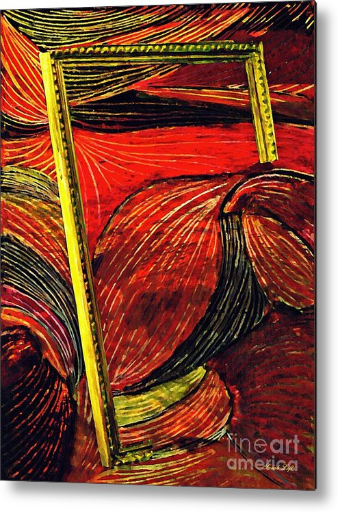 Wave Metal Print featuring the mixed media Breakthrough by Sarah Loft