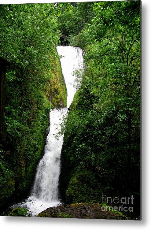 Waterfall Metal Print featuring the photograph Bridal Veil Falls by PJ Cloud